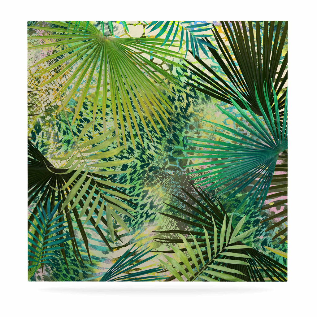 "Victoria Krupp ""Animal Jungles"" Green Teal Digital Luxe Square Panel"