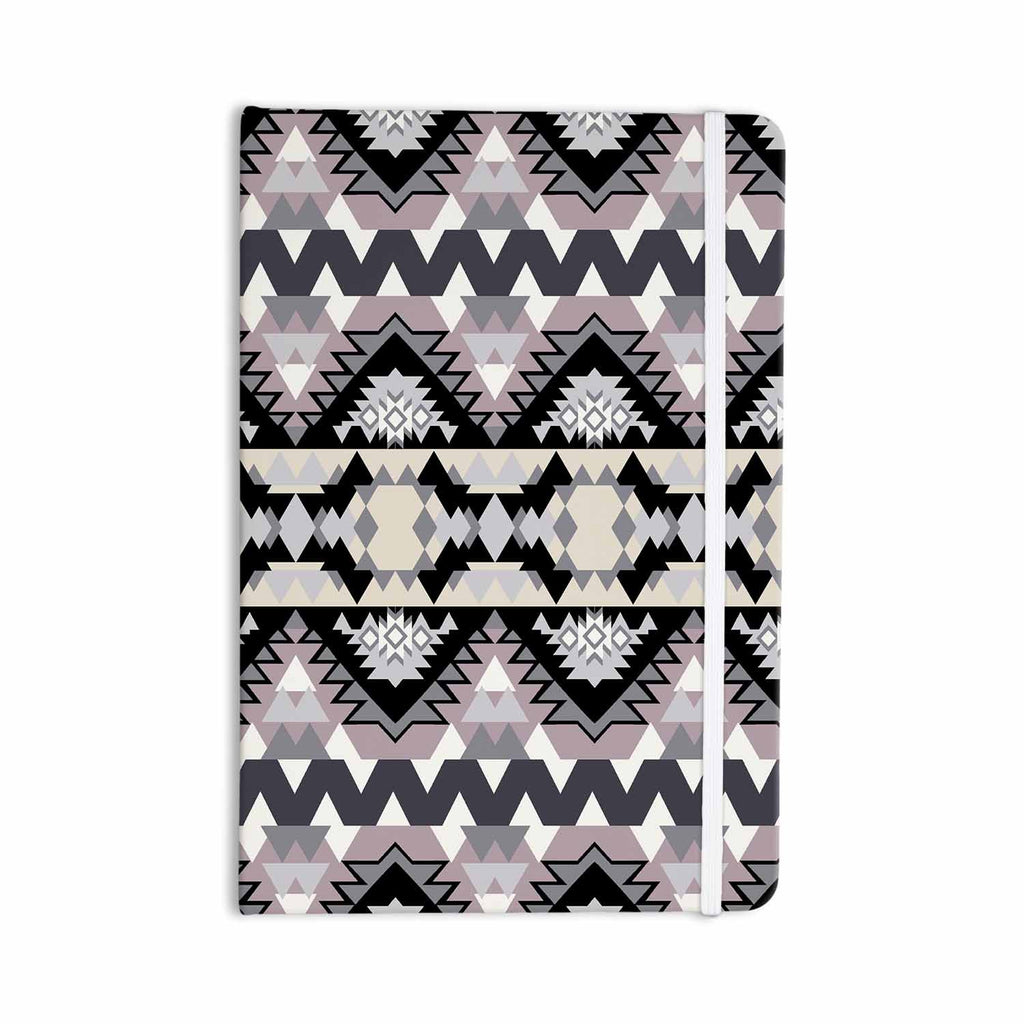 "Victoria Krupp ""Nordic Ice"" Black Pastel Digital Everything Notebook - KESS InHouse  - 1"