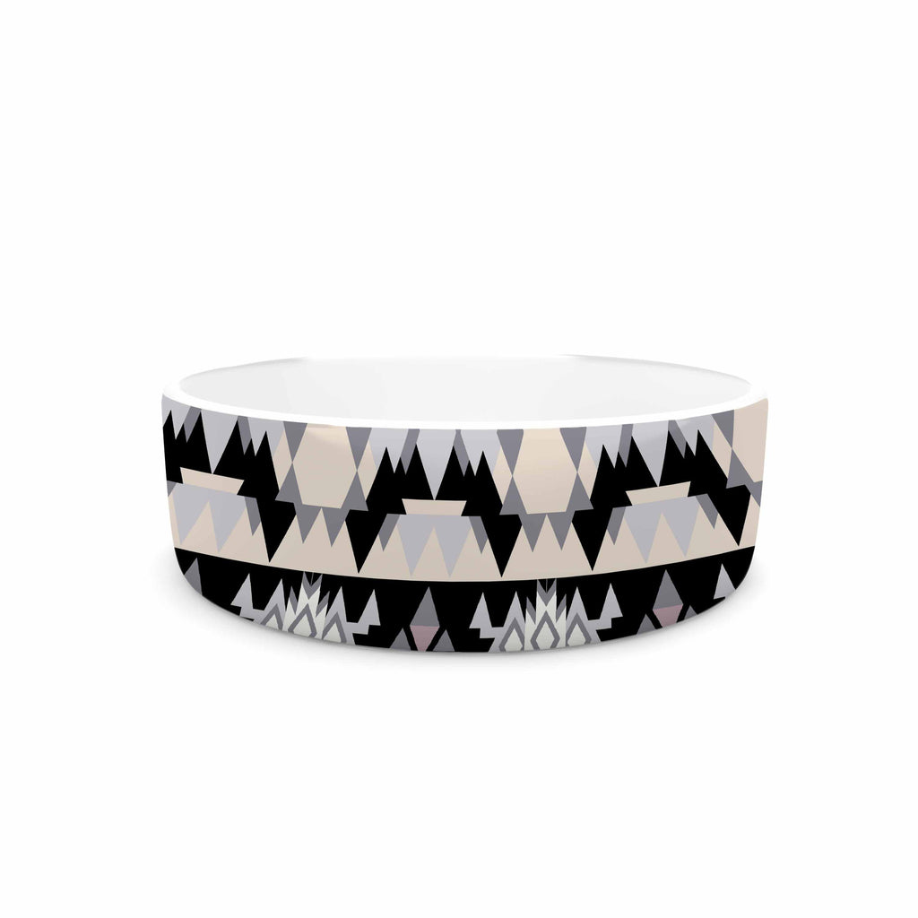 "Victoria Krupp ""Nordic Ice"" Black Pastel Digital Pet Bowl"