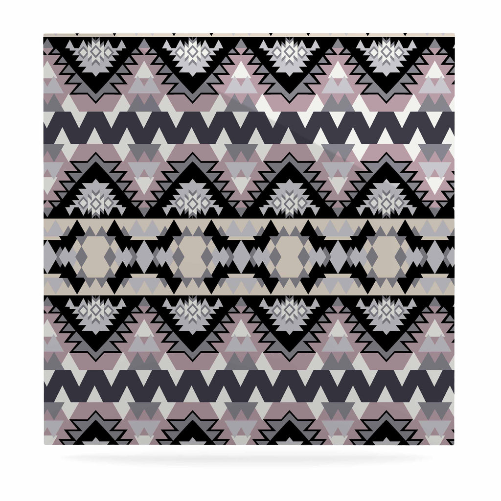 "Victoria Krupp ""Nordic Ice"" Black Pastel Digital Luxe Square Panel"