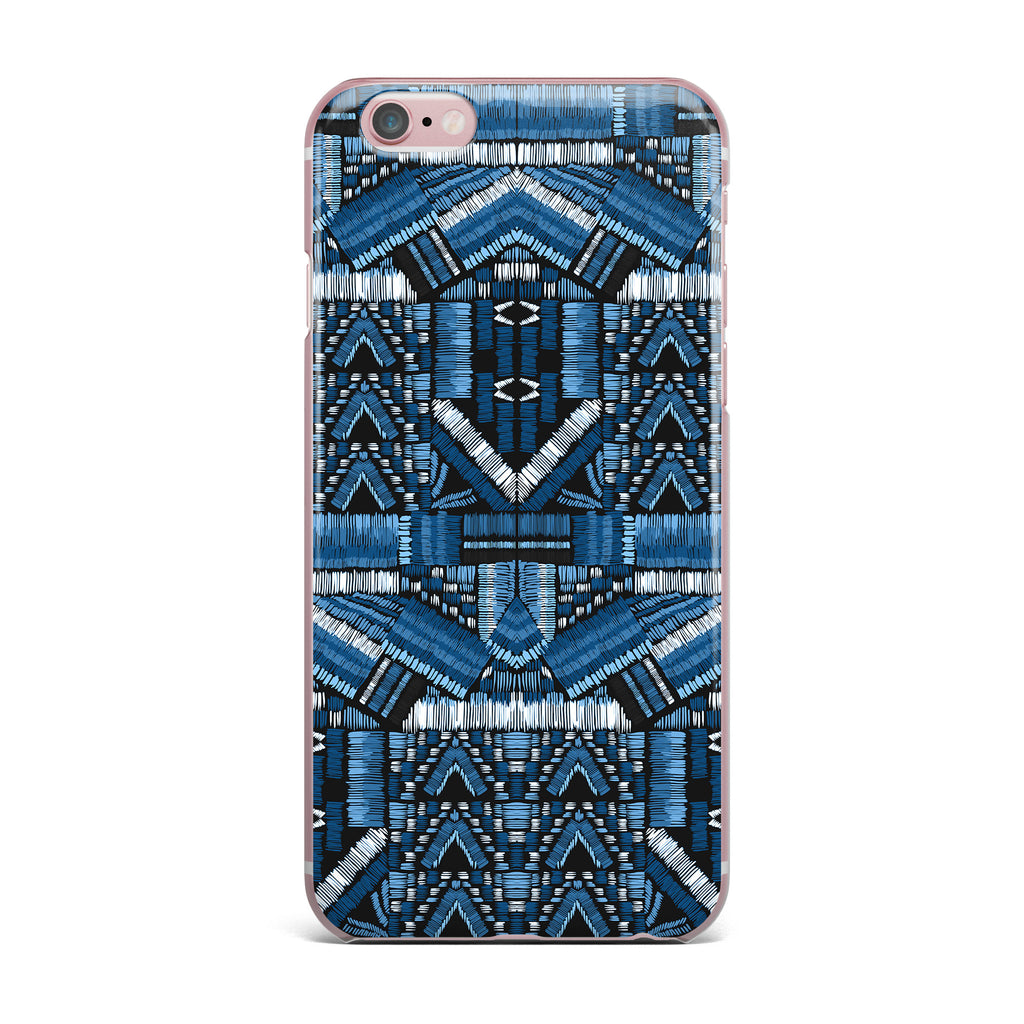 "Victoria Krupp ""Festival Geo"" Blue Black Illustration iPhone Case - KESS InHouse"