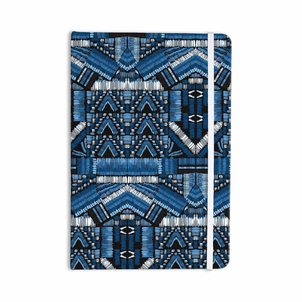 "Victoria Krupp ""Festival Geo"" Blue Black Illustration Everything Notebook - KESS InHouse  - 1"