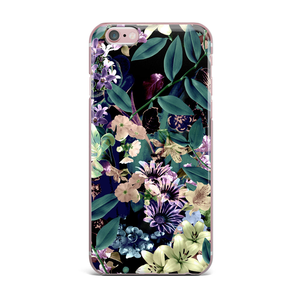 "Victoria Krupp ""Midnight Garden"" Black Multicolor Digital iPhone Case - KESS InHouse"