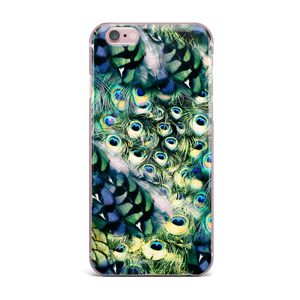 "Victoria Krupp ""Feather Mix"" Blue Teal Digital iPhone Case - KESS InHouse"