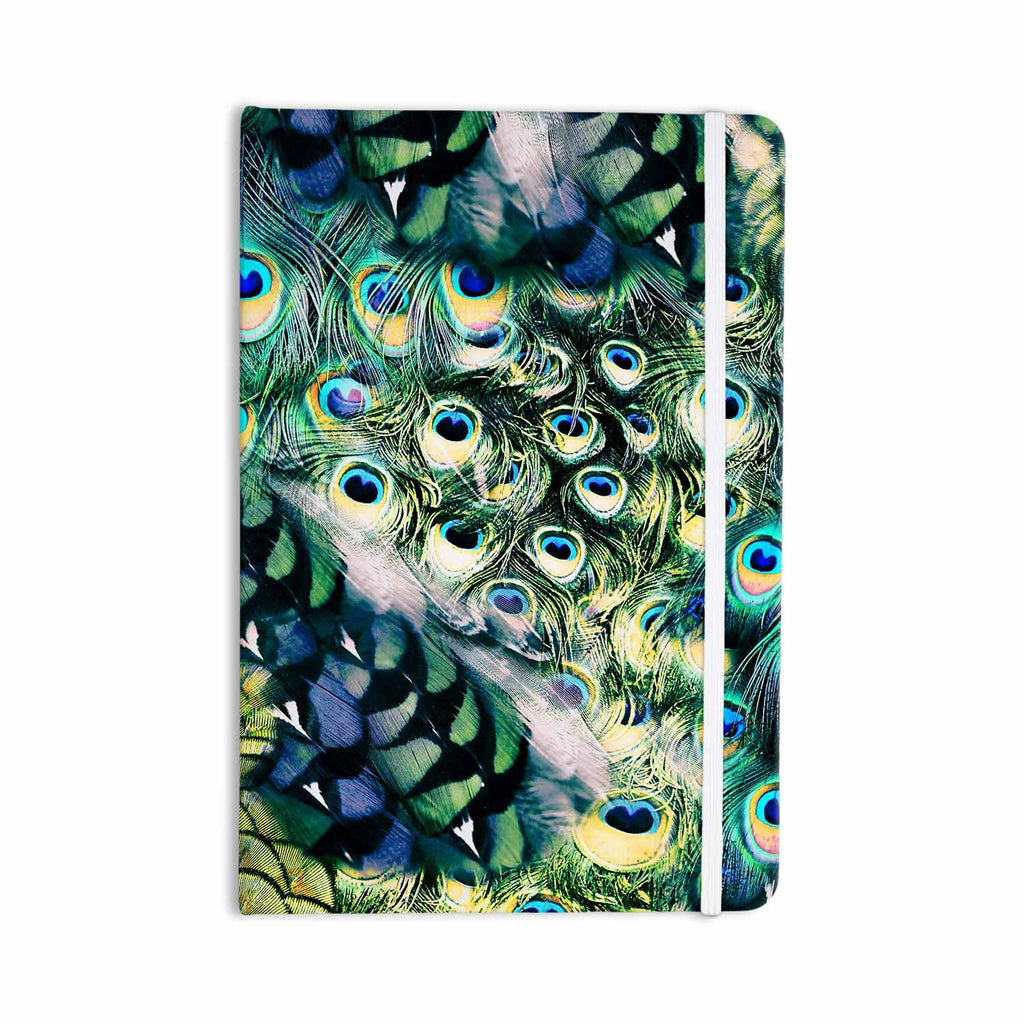 "Victoria Krupp ""Feather Mix"" Blue Teal Digital Everything Notebook - KESS InHouse  - 1"