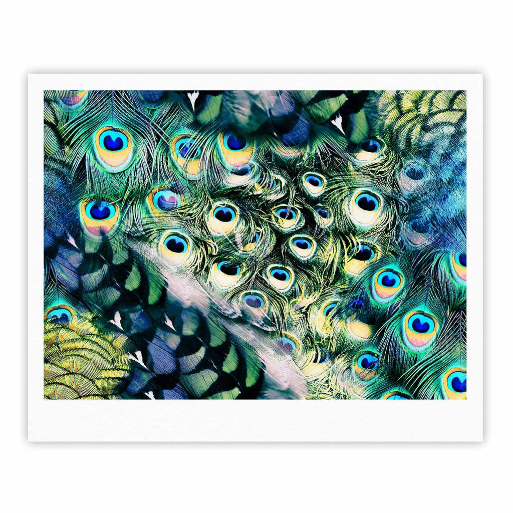 "Victoria Krupp ""Feather Mix"" Blue Teal Digital Fine Art Gallery Print"