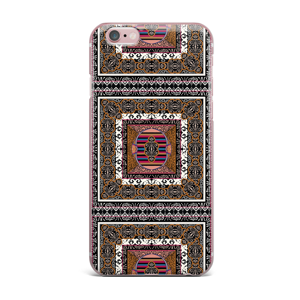 "Victoria Krupp ""Tibet Mandala"" Black White Illustration iPhone Case - KESS InHouse"