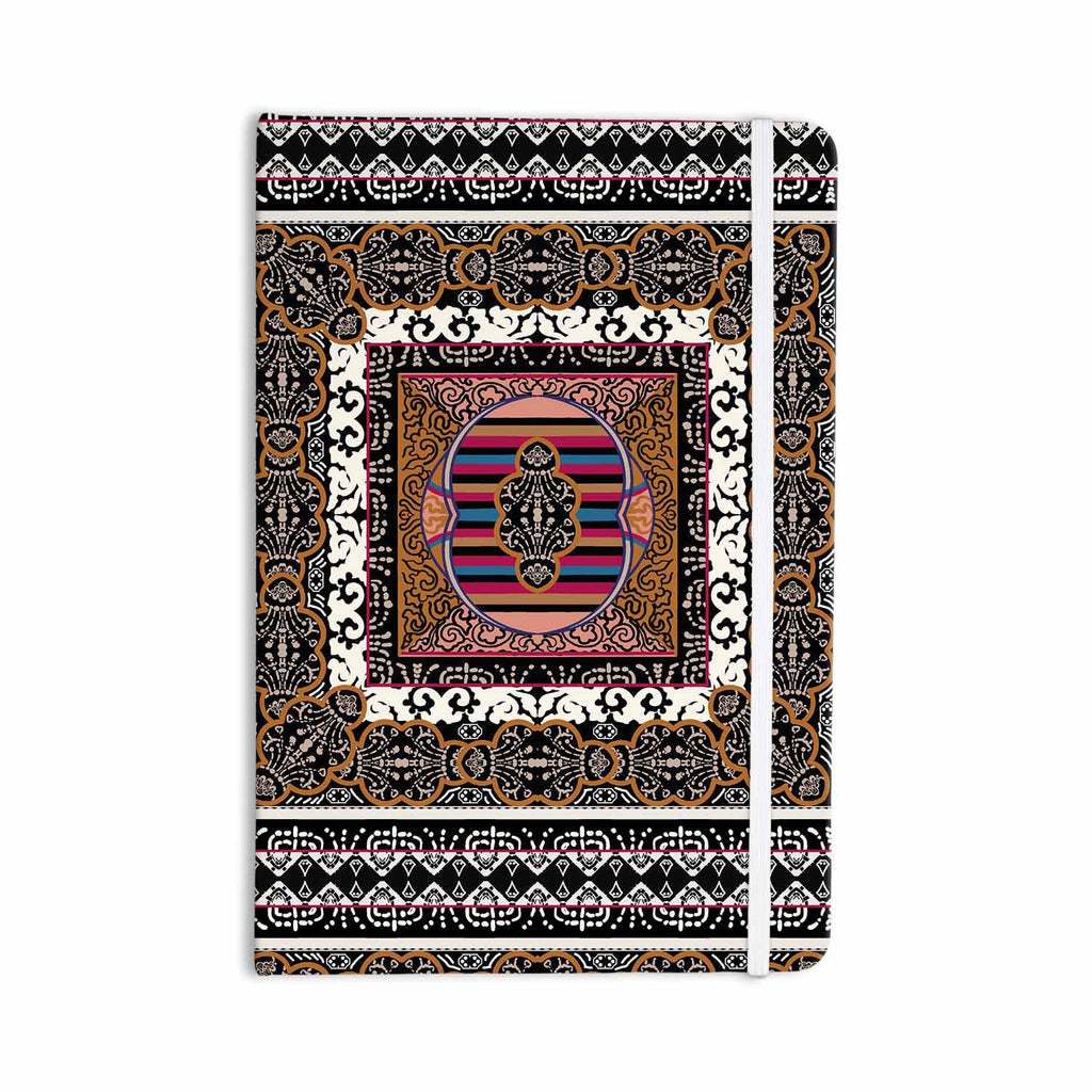 "Victoria Krupp ""Tibet Mandala"" Black White Illustration Everything Notebook - KESS InHouse  - 1"
