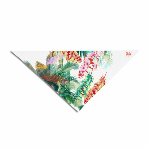 "Victoria Krupp ""Return To Bali"" Green White Digital Pet Bandana"
