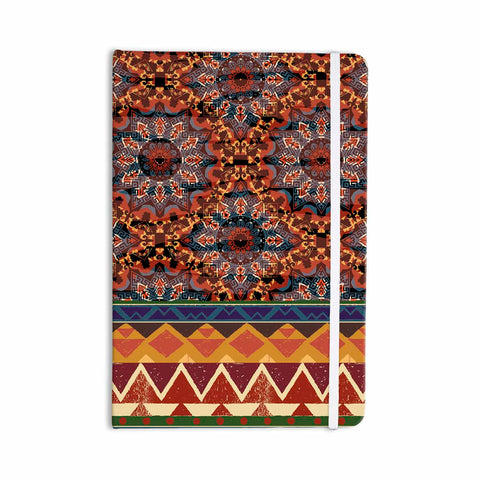 "Victoria Krupp ""Earth Shine"" Brown Multicolor Tribal Ethnic Illustration Painting Everything Notebook"