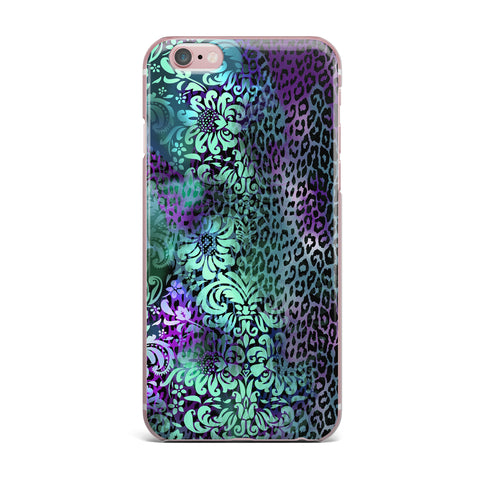 "Victoria Krupp ""Baroque Animal"" Purple Teal Fantasy Animals Digital Illustration iPhone Case"