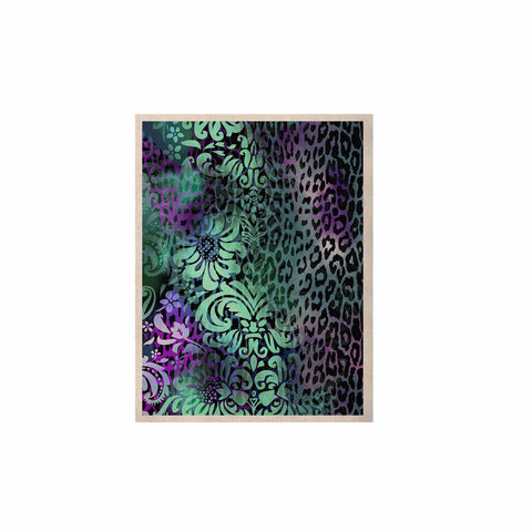 "Victoria Krupp ""Baroque Animal"" Purple Teal Fantasy Animals Digital Illustration KESS Naturals Canvas (Frame not Included)"
