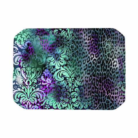 "Victoria Krupp ""Baroque Animal"" Purple Teal Fantasy Animals Digital Illustration Place Mat"