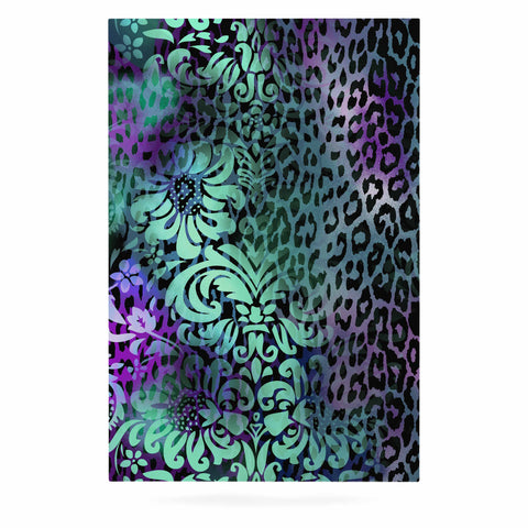 "Victoria Krupp ""Baroque Animal"" Purple Teal Fantasy Animals Digital Illustration Luxe Rectangle Panel"
