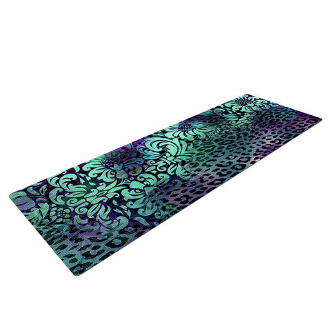 "Victoria Krupp ""Baroque Animal"" Purple Teal Fantasy Animals Digital Illustration Yoga Mat"