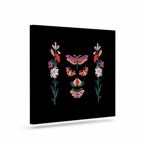 "Victoria Krupp ""Timeless"" Magenta Black Modern Fantasy Vector Illustration Art Canvas"