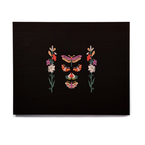 "Victoria Krupp ""Timeless"" Magenta Black Modern Fantasy Vector Illustration Birchwood Wall Art"