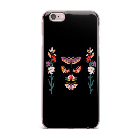 "Victoria Krupp ""Timeless"" Magenta Black Modern Fantasy Vector Illustration iPhone Case"