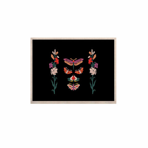 "Victoria Krupp ""Timeless"" Magenta Black Modern Fantasy Vector Illustration KESS Naturals Canvas (Frame not Included)"