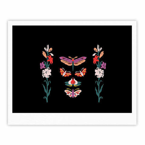 "Victoria Krupp ""Timeless"" Magenta Black Modern Fantasy Vector Illustration Fine Art Gallery Print"
