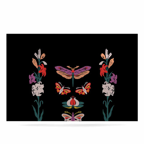 "Victoria Krupp ""Timeless"" Magenta Black Modern Fantasy Vector Illustration Luxe Rectangle Panel"