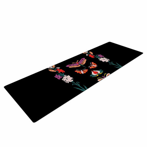 "Victoria Krupp ""Timeless"" Magenta Black Modern Fantasy Vector Illustration Yoga Mat"