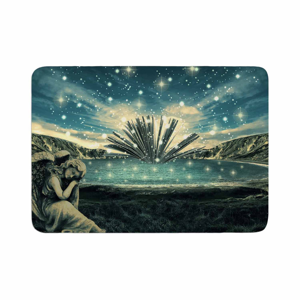 "888 Design ""The Knowledge Keeper"" Blue Fantasy Memory Foam Bath Mat - KESS InHouse"