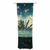 "888 Design ""The Knowledge Keeper"" Blue Fantasy Decorative Sheer Curtain - KESS InHouse  - 1"