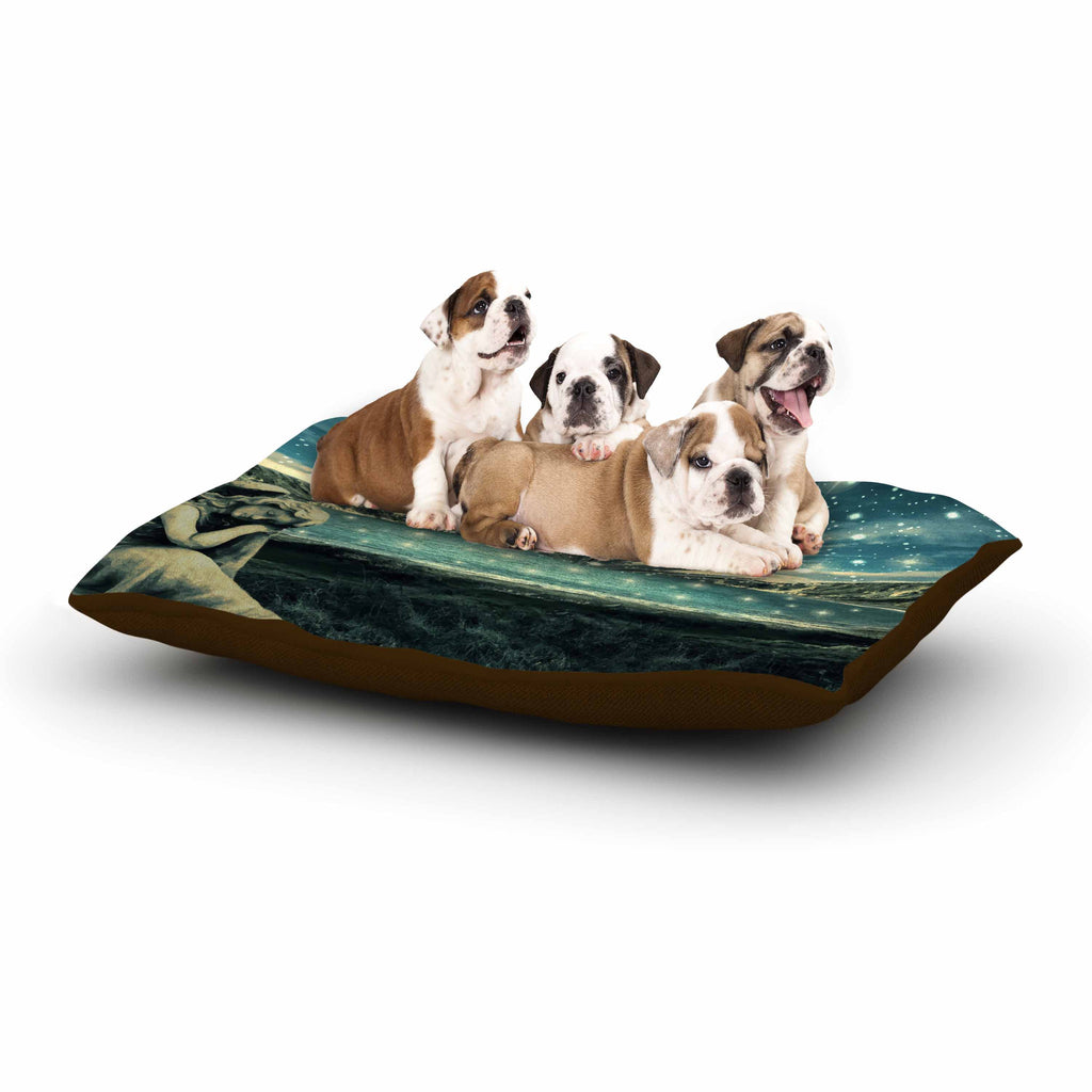 "888 Design ""The Knowledge Keeper"" Blue Fantasy Dog Bed - KESS InHouse  - 1"