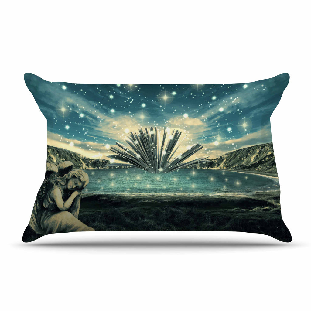 "888 Design ""The Knowledge Keeper"" Blue Fantasy Pillow Sham - KESS InHouse  - 1"