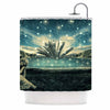 "888 Design ""The Knowledge Keeper"" Blue Fantasy Shower Curtain - KESS InHouse"