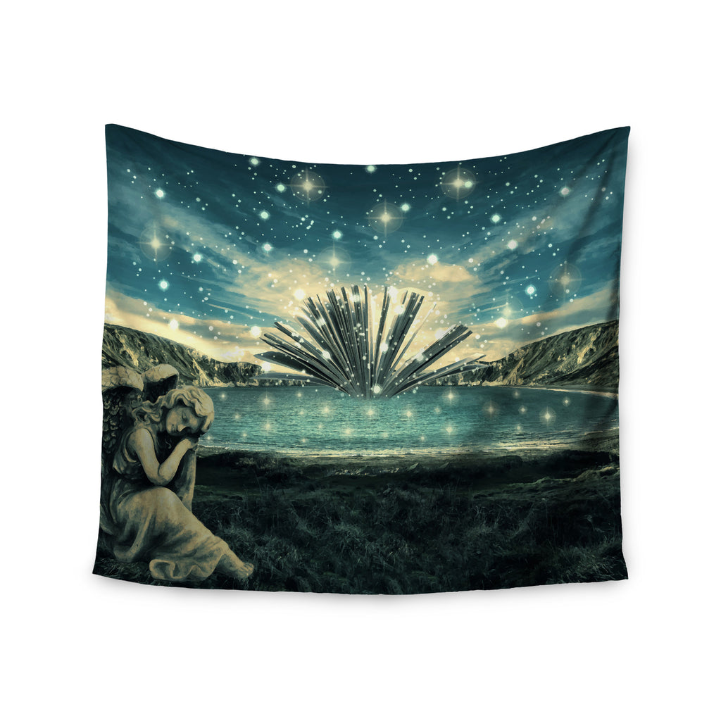 "888 Design ""The Knowledge Keeper"" Blue Fantasy Wall Tapestry - KESS InHouse  - 1"
