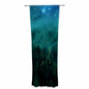 "888 Design ""Forest Night"" Green Digital Decorative Sheer Curtain - KESS InHouse  - 1"