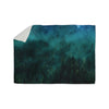 "888 Design ""Forest Night"" Green Digital Sherpa Blanket - KESS InHouse  - 1"