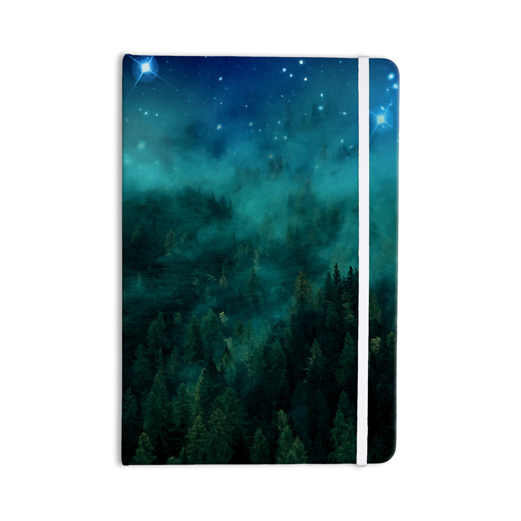"888 Design ""Forest Night"" Green Digital Everything Notebook - KESS InHouse  - 1"
