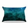 "888 Design ""Forest Night"" Green Digital Pillow Sham - KESS InHouse  - 1"