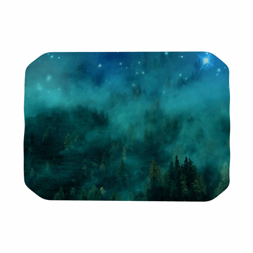 "888 Design ""Forest Night"" Green Digital Place Mat - KESS InHouse"
