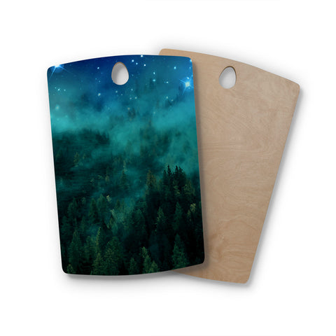 "888 Design ""Forest Night"" Rectangle Wooden Cutting Board"