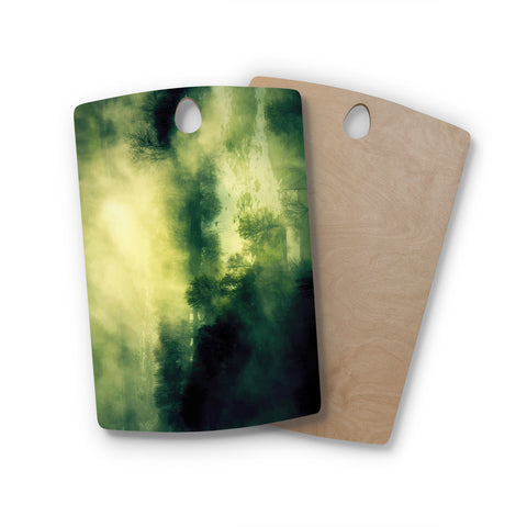 "888 Design ""Dark Mystical Landscape"" Rectangle Wooden Cutting Board"