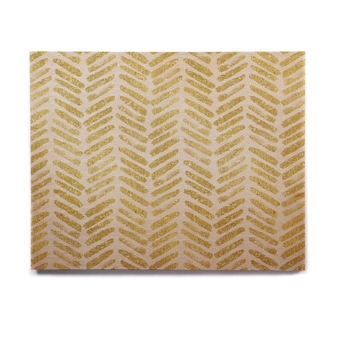 "888 Design ""Golden Vision"" Yellow White Birchwood Wall Art - KESS InHouse  - 1"
