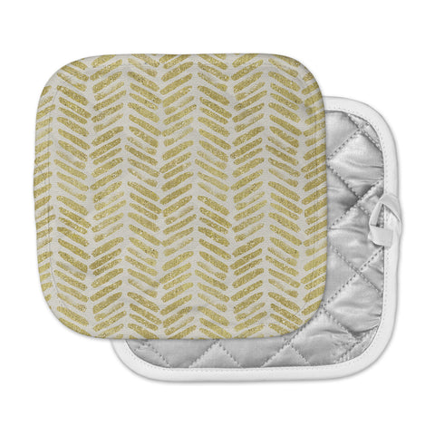 "888 Design ""Golden Vision"" Yellow White Pot Holder"