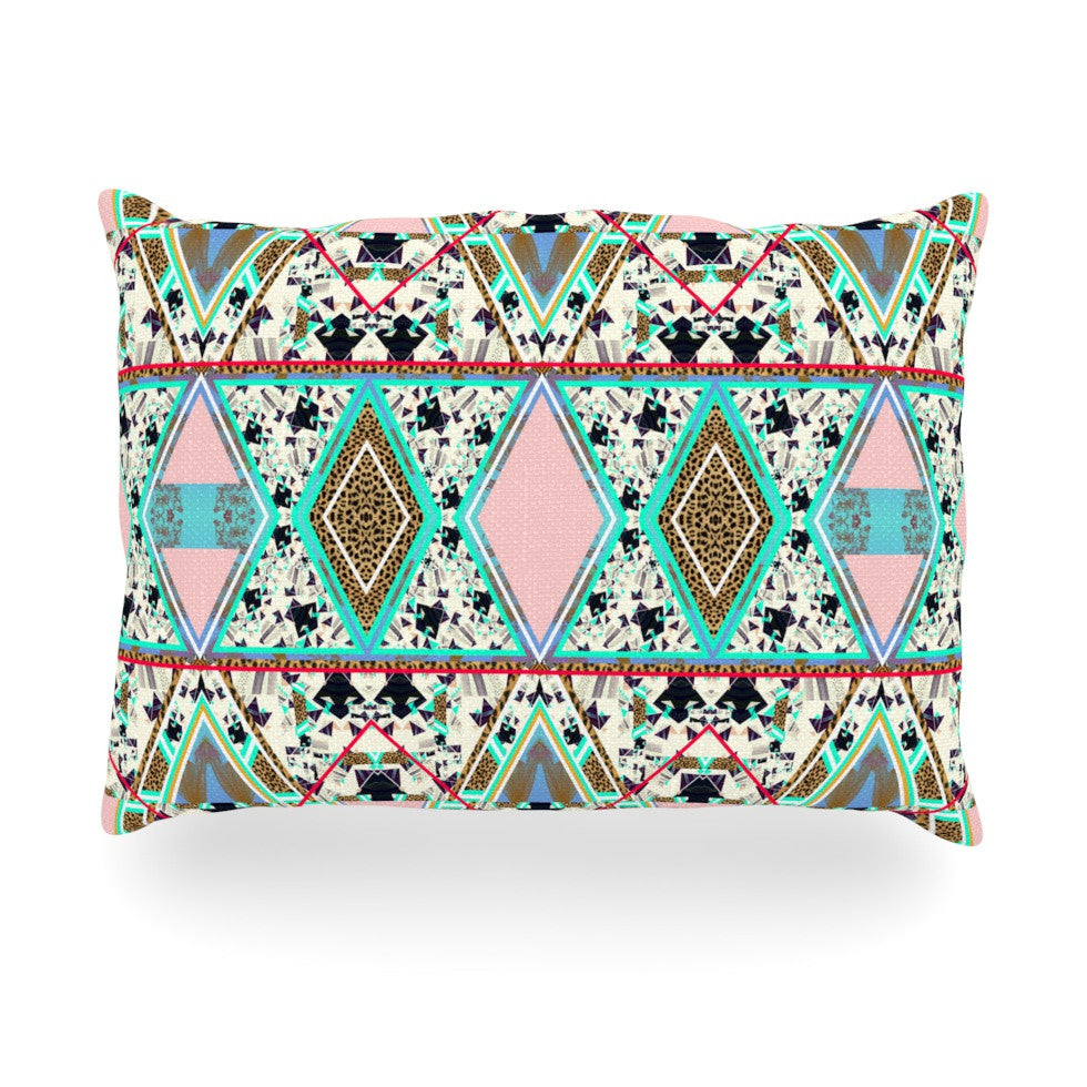 "Vasare Nar ""Deco Hippie"" Oblong Pillow - KESS InHouse"