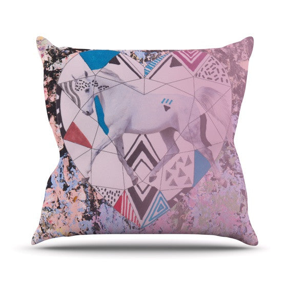 "Vasare Nar ""Unicorn"" Outdoor Throw Pillow - KESS InHouse  - 1"