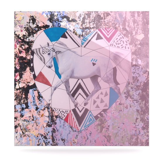 "Vasare Nar ""Unicorn"" Luxe Square Panel - KESS InHouse  - 1"