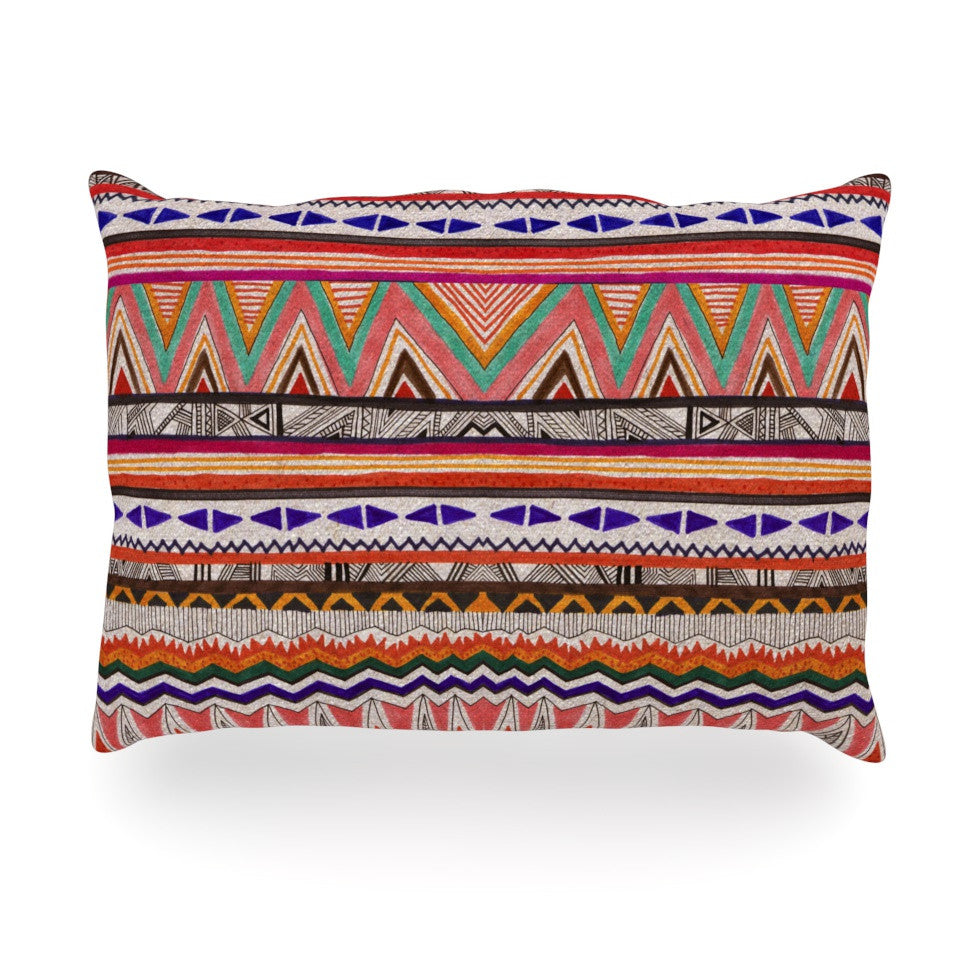 "Vasare Nar ""Native Tessellation"" Oblong Pillow - KESS InHouse"