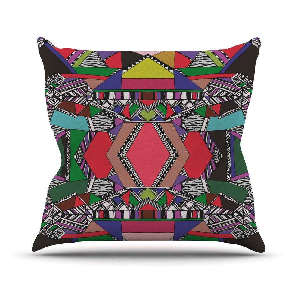 "Vasare Nar ""African Motif"" Throw Pillow - KESS InHouse  - 1"