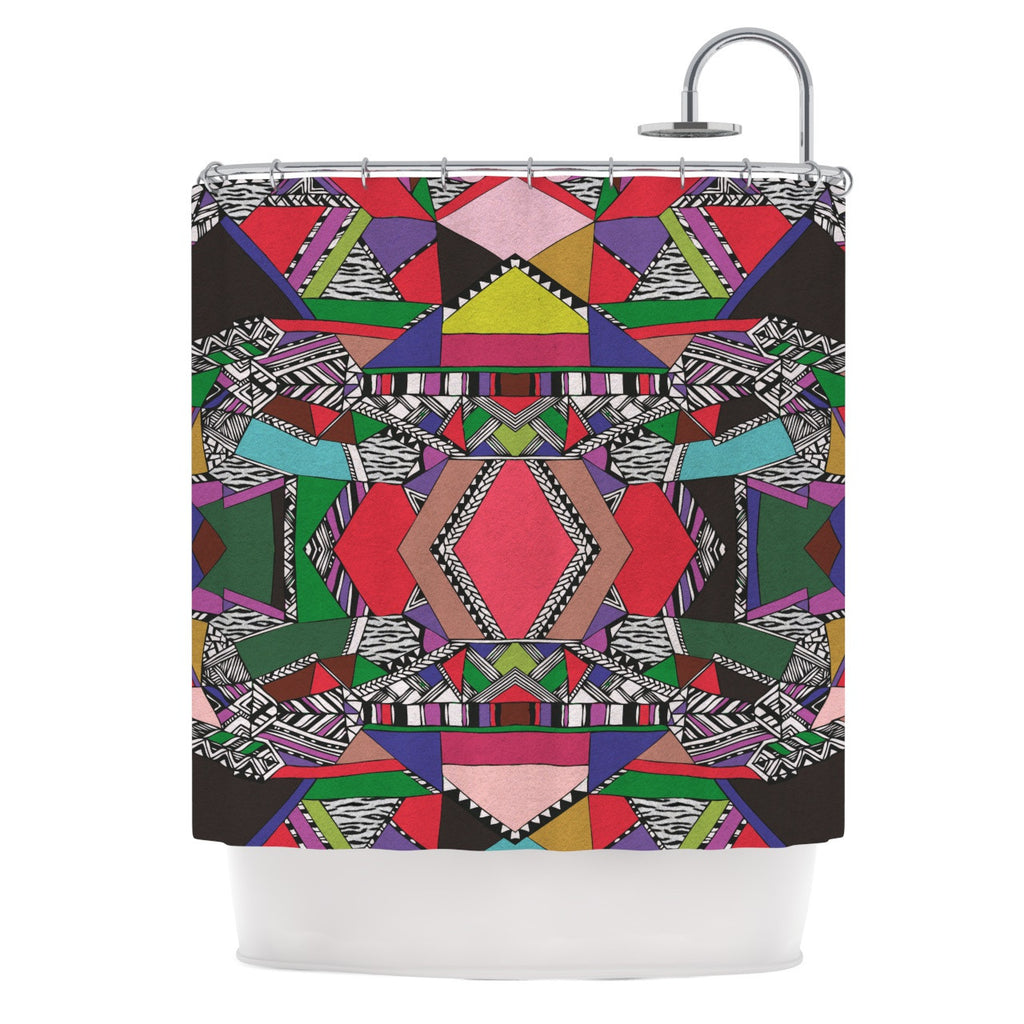 "Vasare Nar ""African Motif"" Shower Curtain - KESS InHouse"
