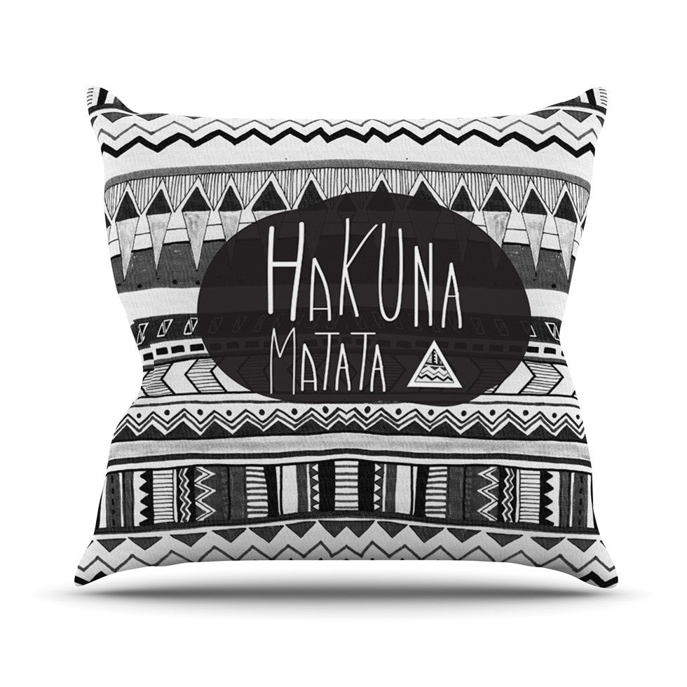 "Vasare Nar ""Hakuna Matata"" Outdoor Throw Pillow - KESS InHouse  - 1"