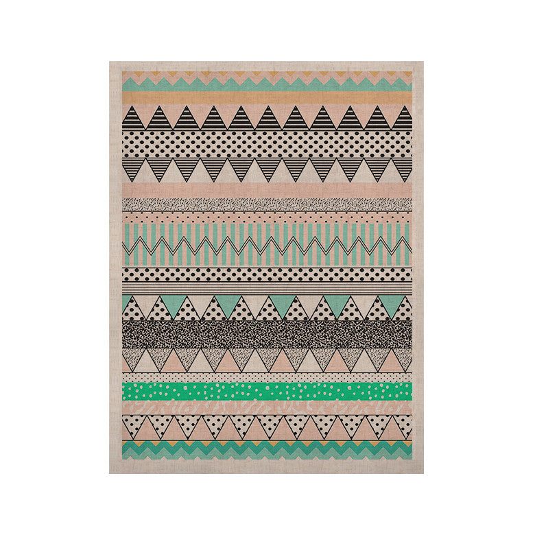 "Vasare Nar ""Chevron Motif"" Pink Teal KESS Naturals Canvas (Frame not Included) - KESS InHouse  - 1"