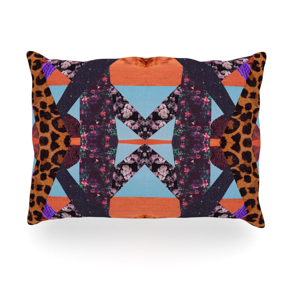 "Vasare Nar ""Pillow Kaleidoscope "" Purple Orange Oblong Pillow - KESS InHouse"